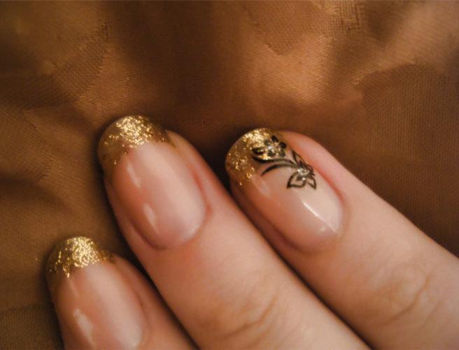 френч золотой фото