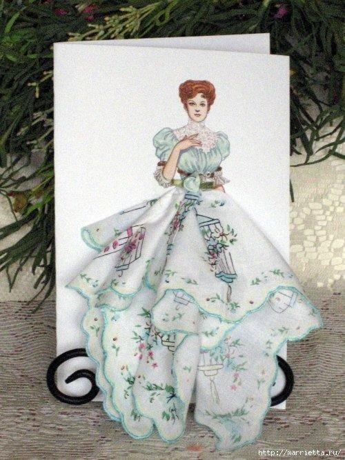 Праздником марта, открытки своими руками девушка в платье