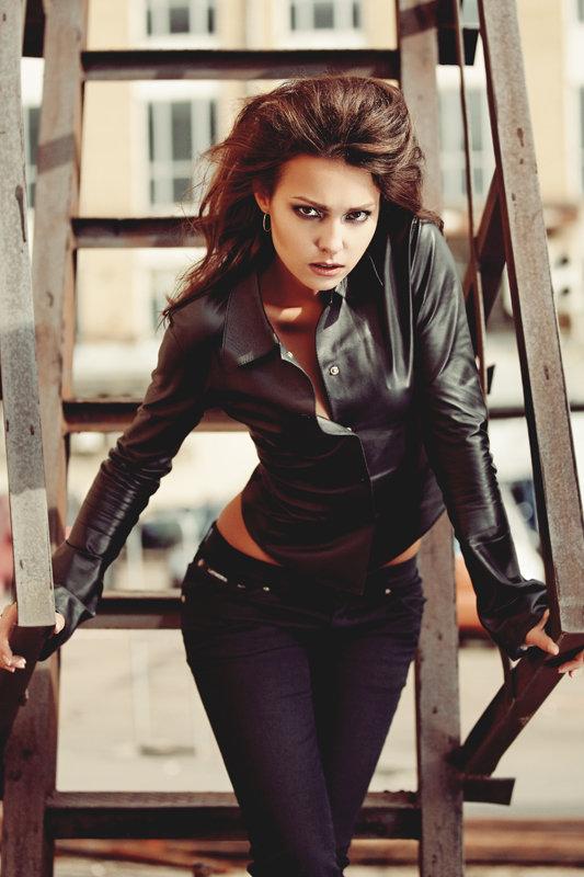 72055884f4f9b82 Кожаная рубашка черного цвета» — карточка пользователя Ольга Голубь ...