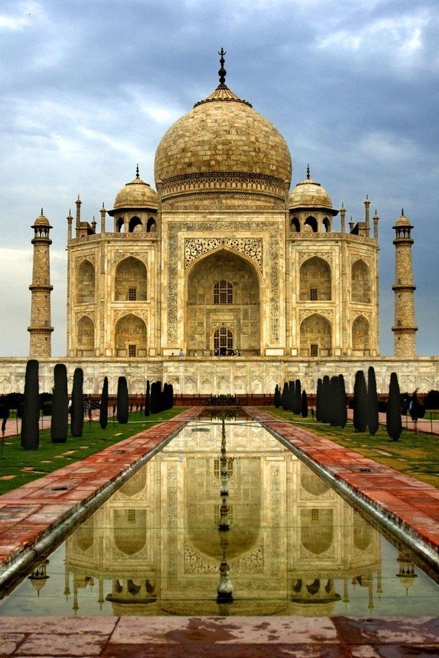 Красивые картинки мрамор, купола, день, индия, минареты, ...