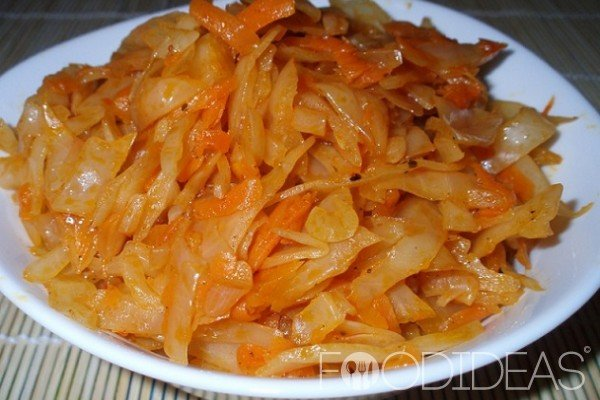 тушеная капуста морковью рецепт фото