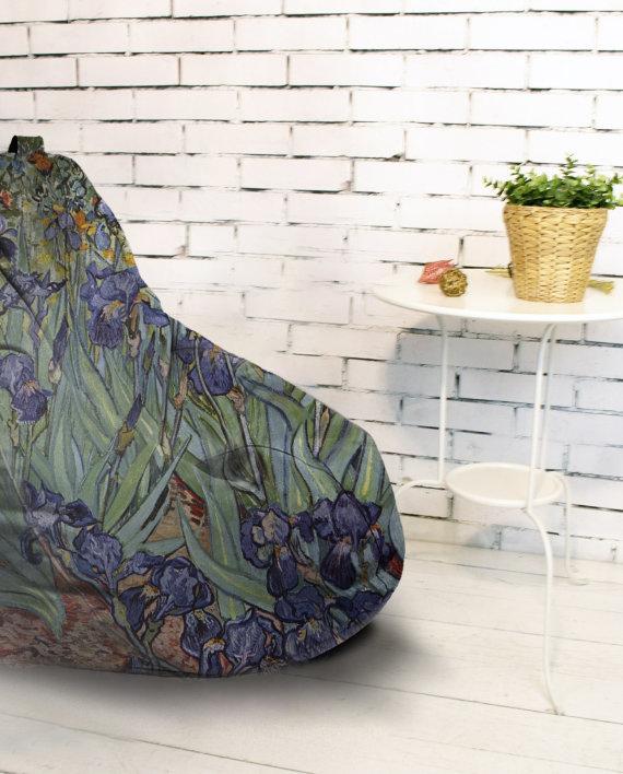 Кресло-мешок «Ирисы» Ван Гог.