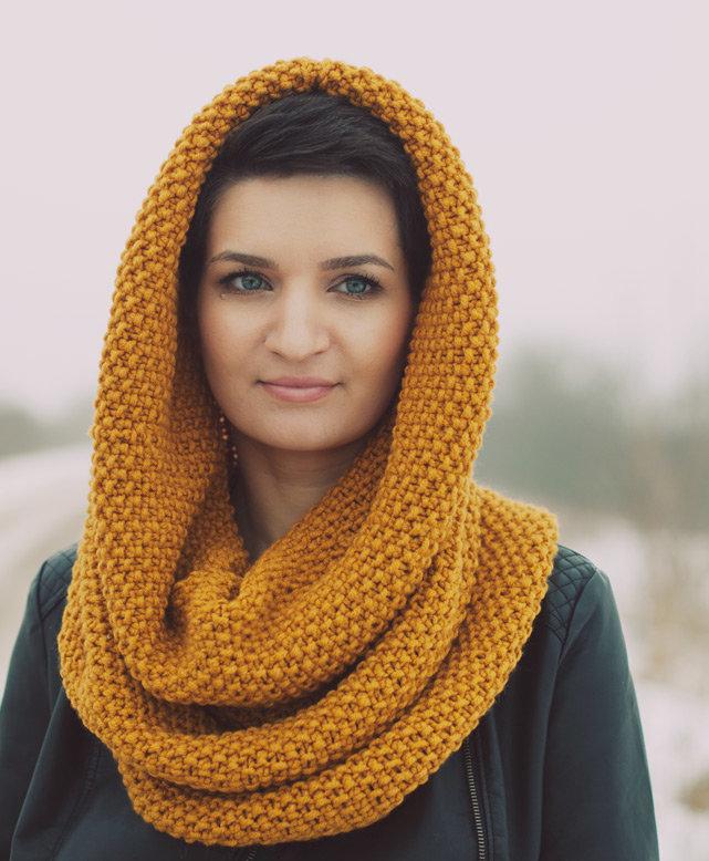 Шарф снуд – круговой шарф-хомут новые фото