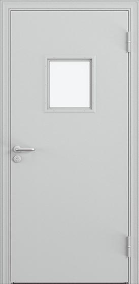 Дверь противопожарная ДП-1С (EI60) с огнестойким стеклоблоком