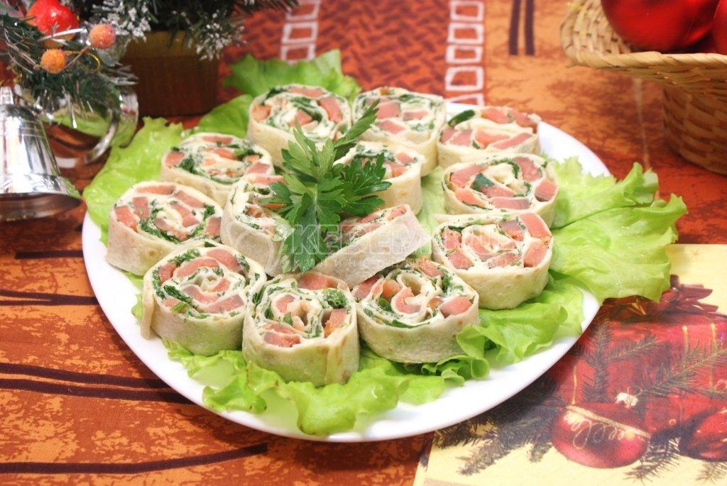 Рулетики из лаваша с красной рыбой рецепты