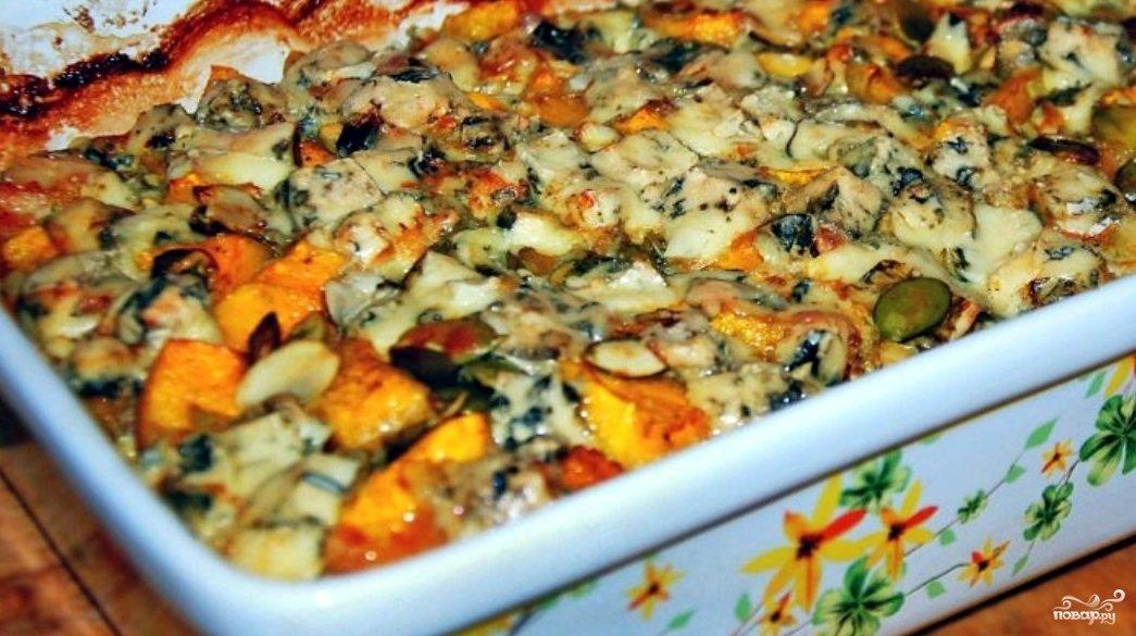 Индейка с тыквой в духовке рецепт