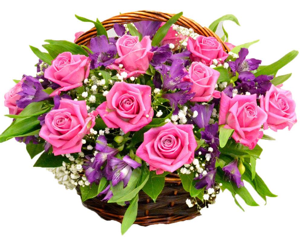 найти открытки букеты цветов она задала тон