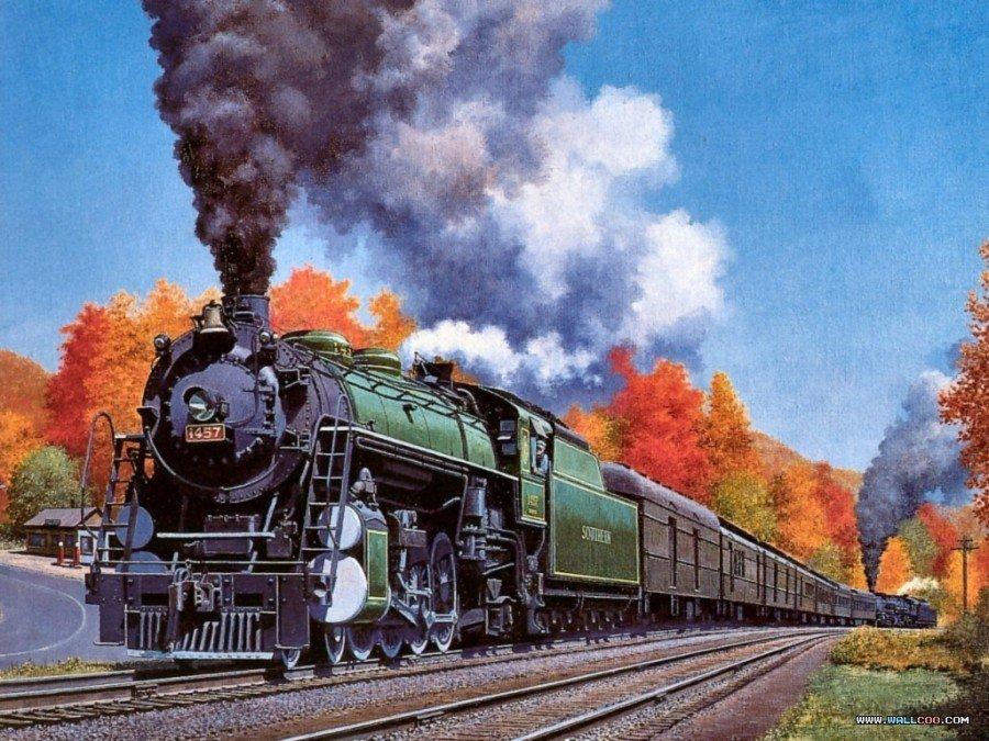Картинки паровозов для поздравлений