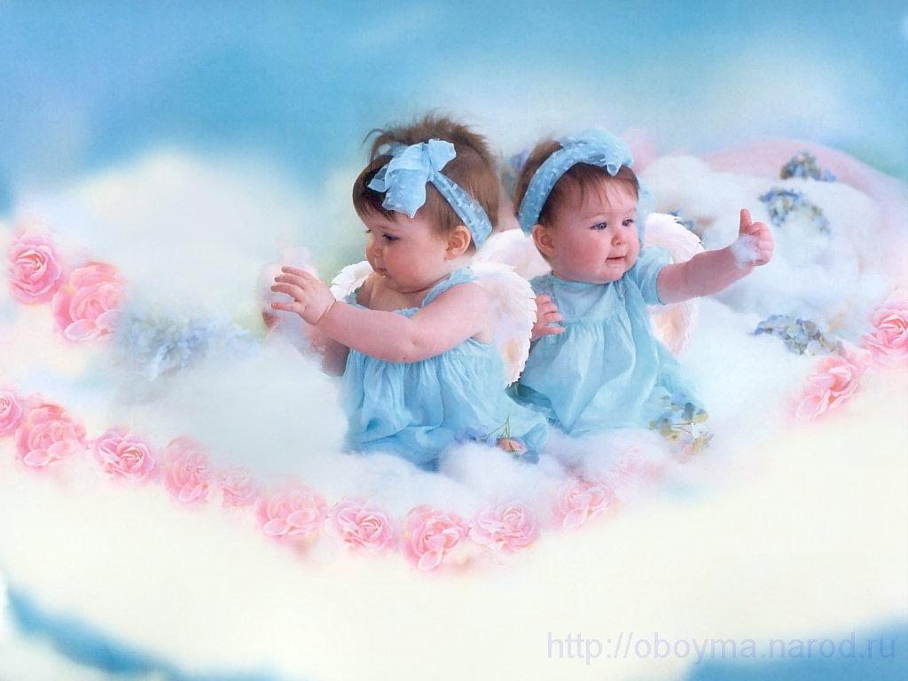 Поздравления с двойняшками девочками картинки