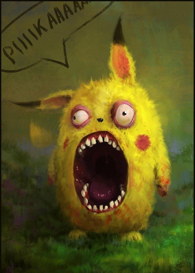 Картинки покемон смешные, надписью внимание