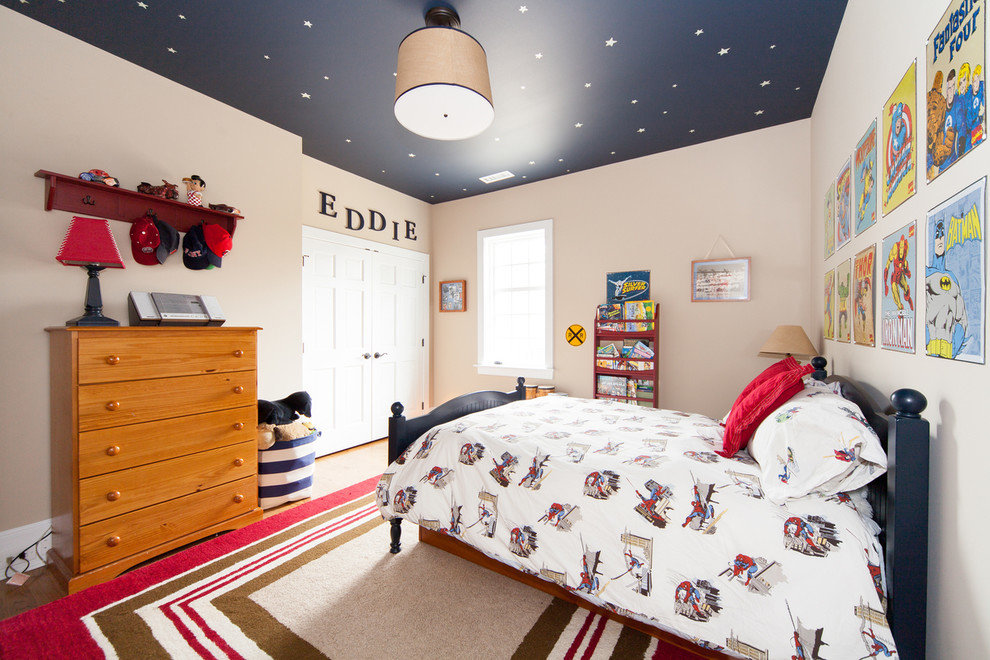 Потолок в детской комнате: красочное небо над маленькой страной.