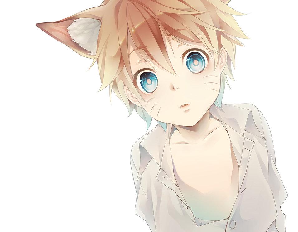 Картинки аниме пацанов с котами