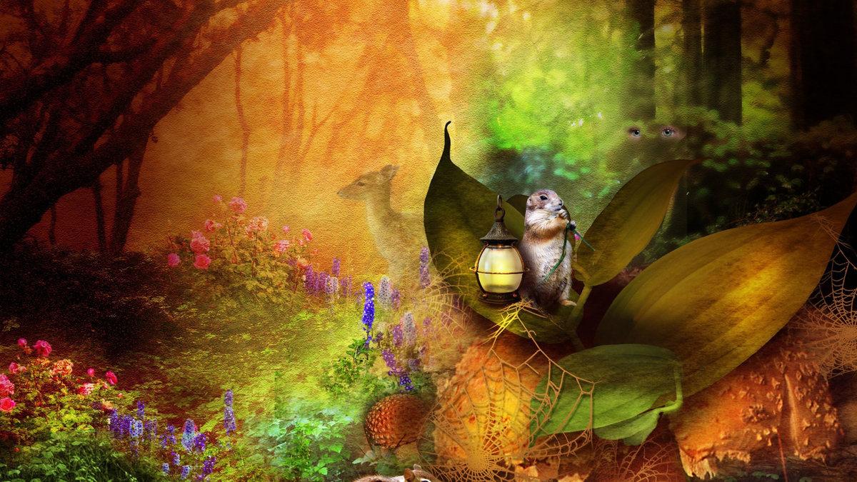 Сказочный лес картинки хорошего качества пошаговой инструкции