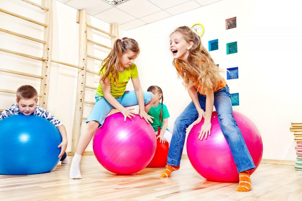 Фитнес в картинках для детей