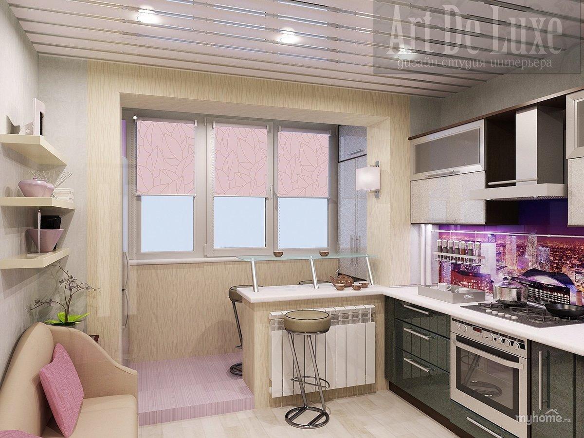 Фото кухни угловые совмещенные с балконом.