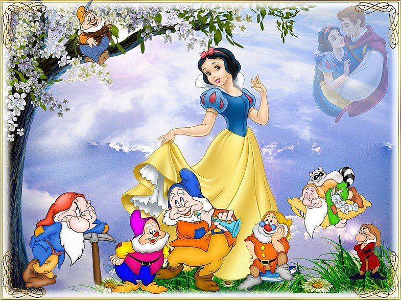 Белоснежка и семь гномов картинки из мультфильма