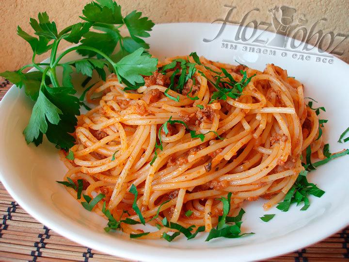 паста болоньезе классический рецепт с фото