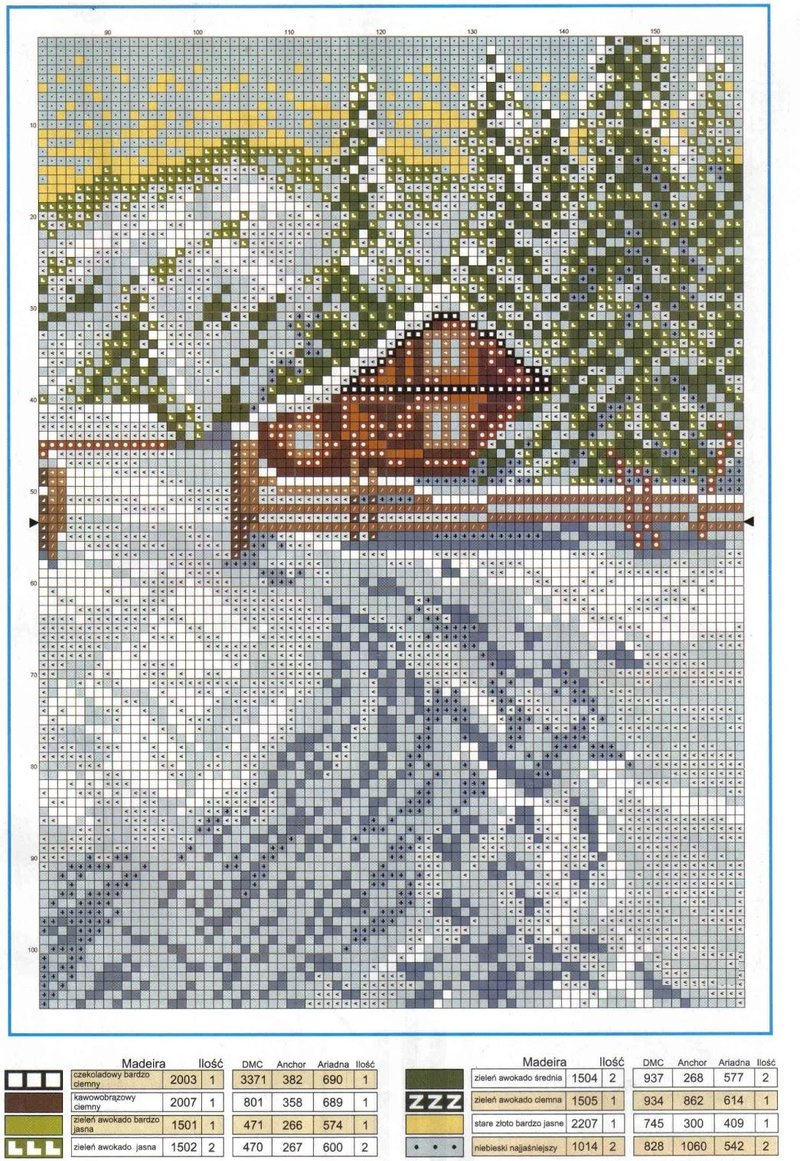 Вышивка домик от анкор