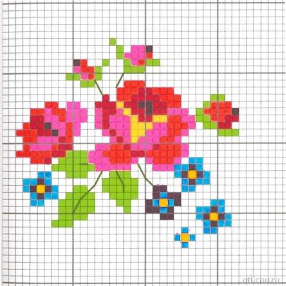Жаккардовые узоры: схемы рисунков для вышивки 7