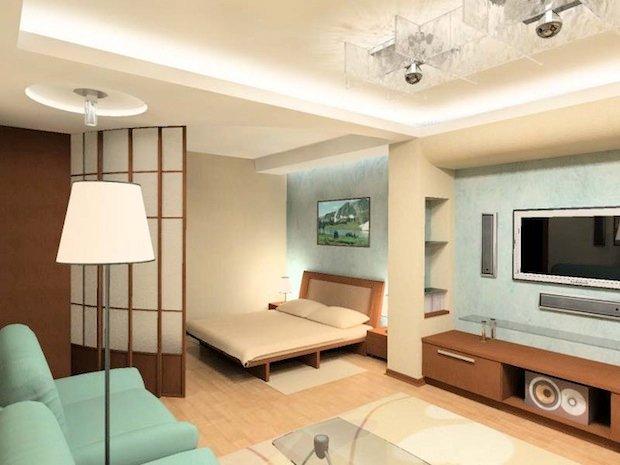 Каким должен быть интерьер однокомнатной квартиры, чтобы она казалась просторной, но вместе с тем для всего необходимого было место.