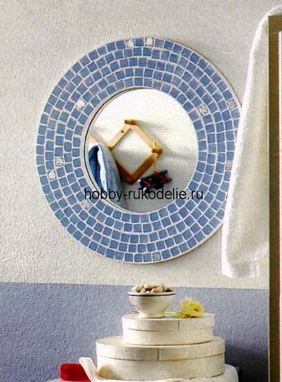 Зеркало с «мозаичной» рамой
