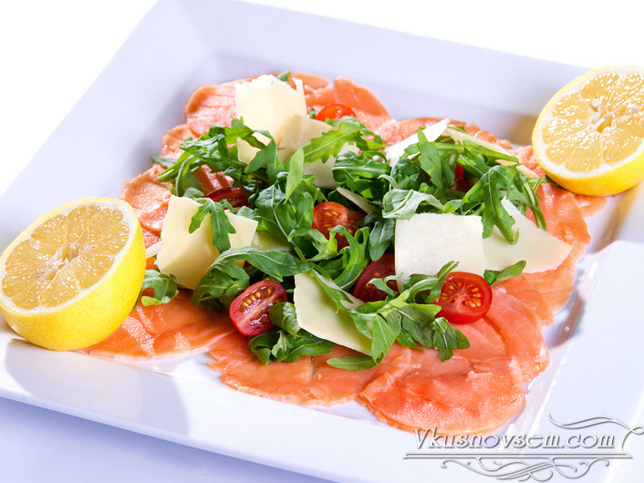 карпаччо из лосося рецепт с фото