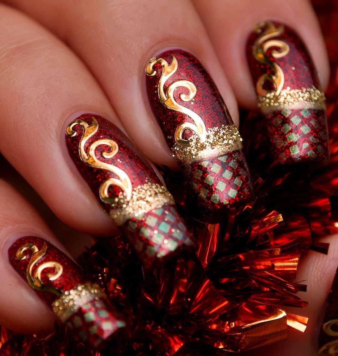 Ногти наращивание картинки новогодние