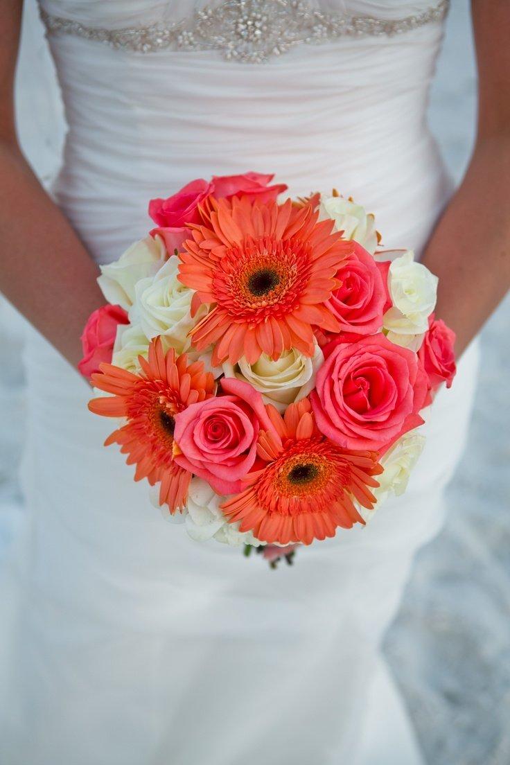 Свадебный цены, букет невесты только из герберов