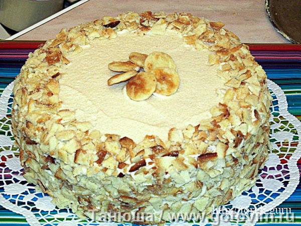 Рецепты тортов на сметане с фото