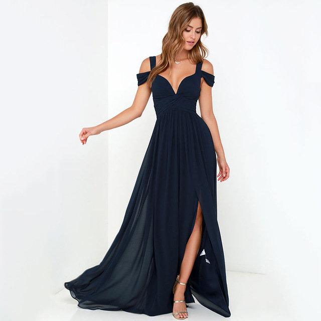 Сексуальное белое платье с разрезом на молнии