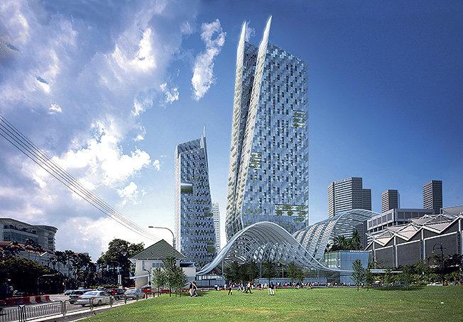Небоскреб, Сингапур, 2007.