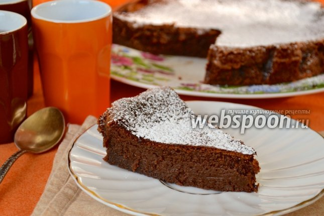 шоколадный пирог простой рецепт с фото пошагово