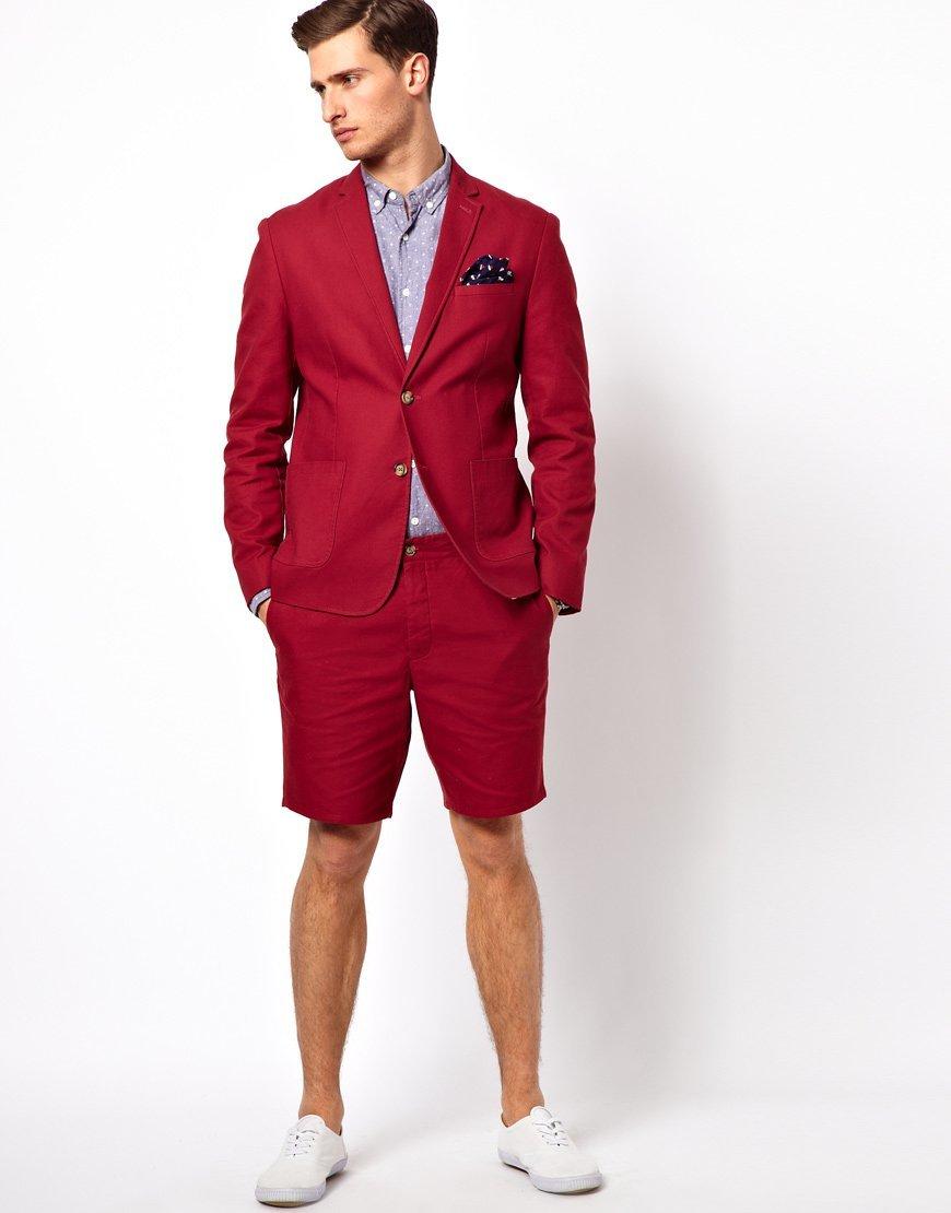 красные костюмы мужские фото если