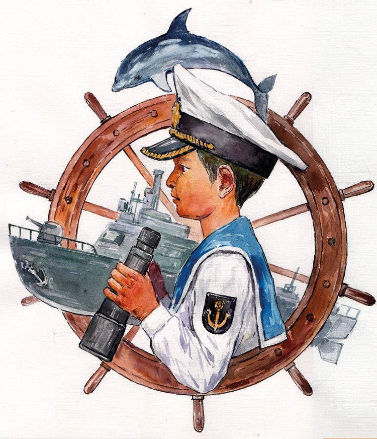 Огород, картинка с моряками для детей