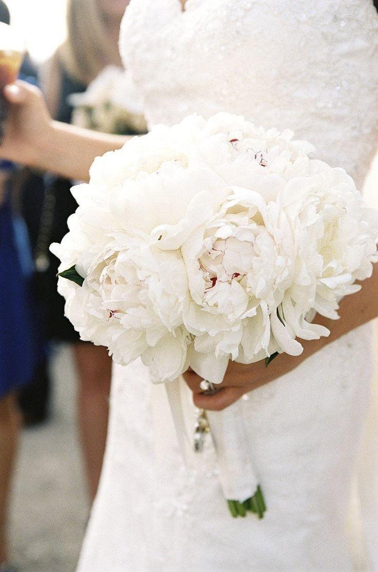 Белый свадебный букет невесты традиции