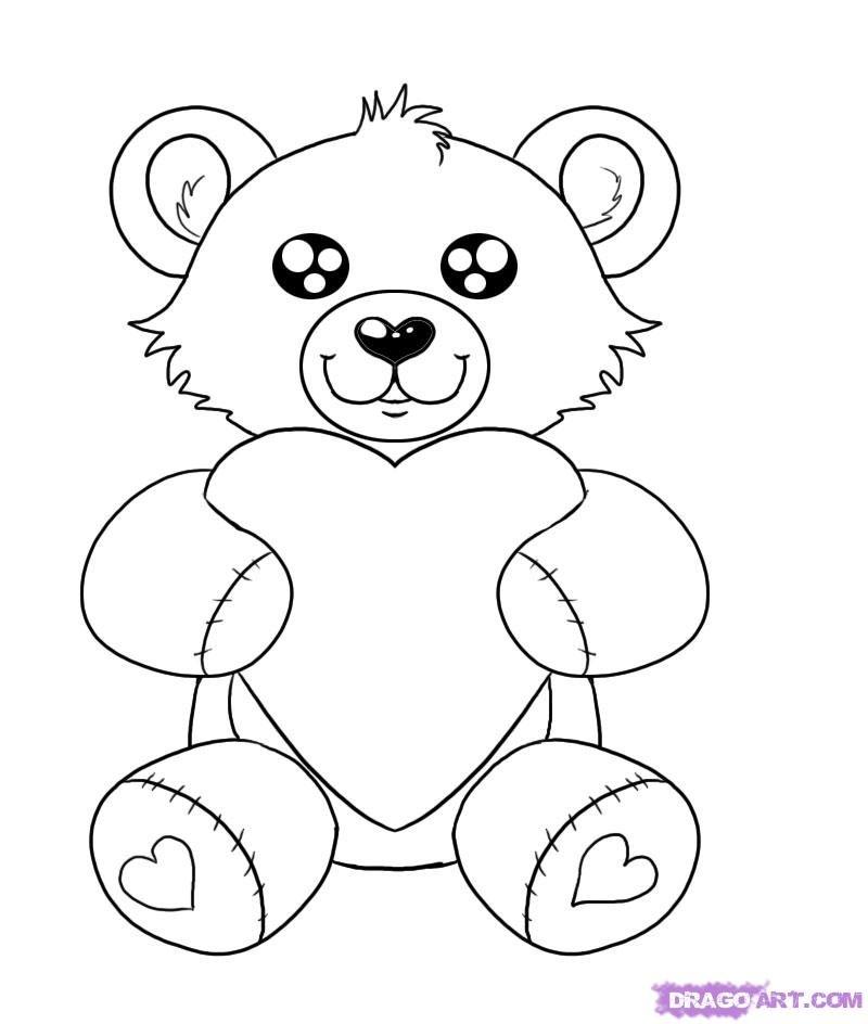 является медвежонок рисунки карандашом сможете проще