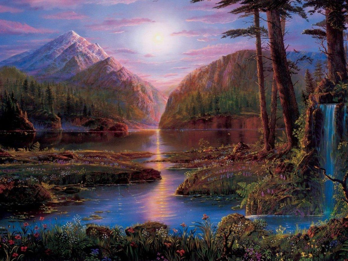 Гиф открытки природа, открытки