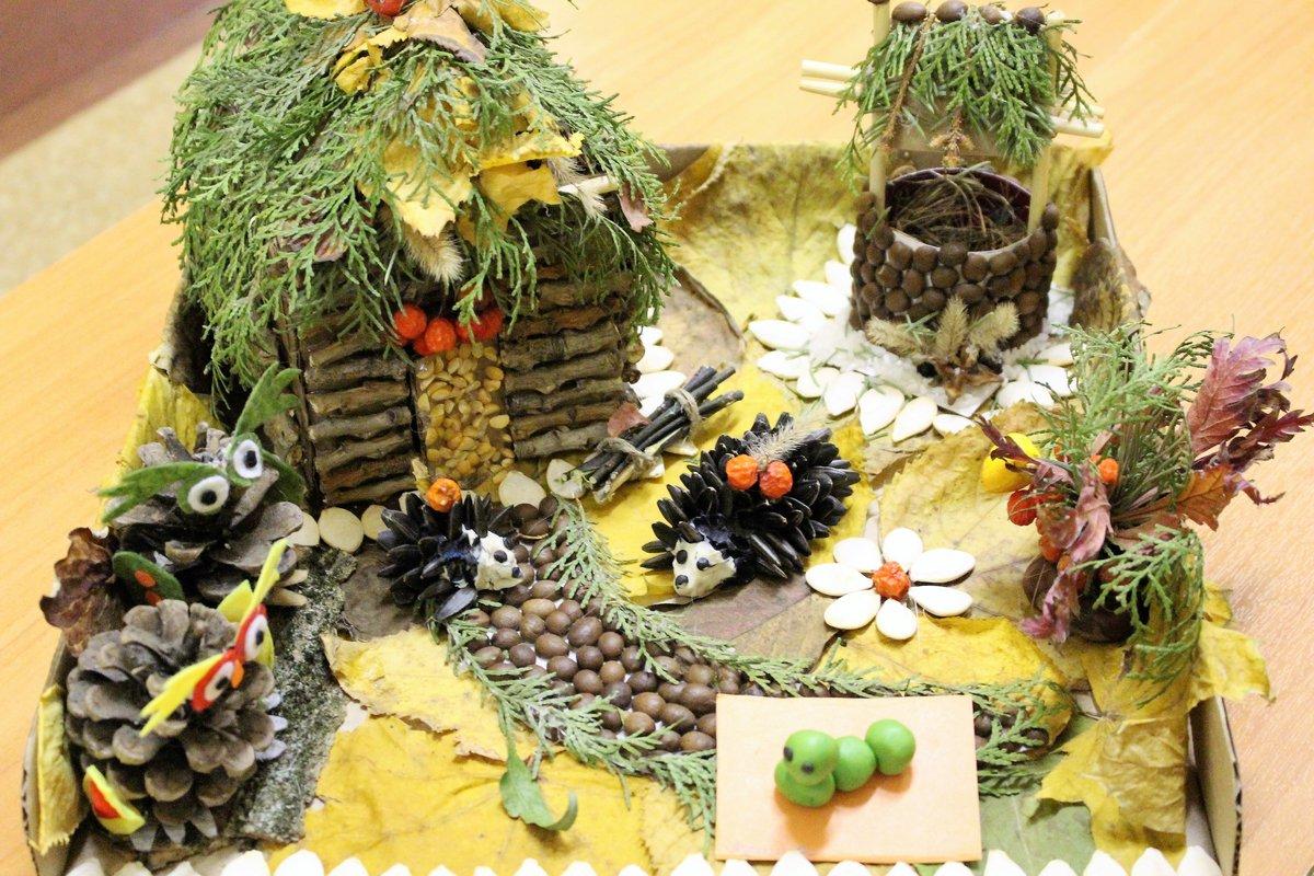 Картинки поделок из природного материала для детей