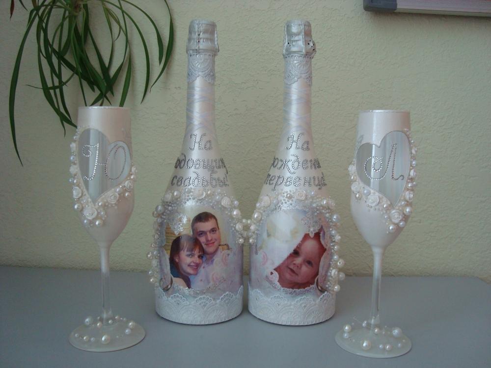 картинки украсить бутылку шампанского на свадьбу можно приготовить самостоятельно