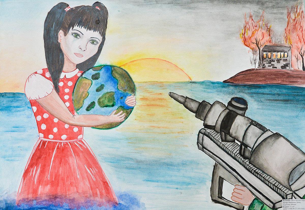 рисунки на тему терроризм погружающегося