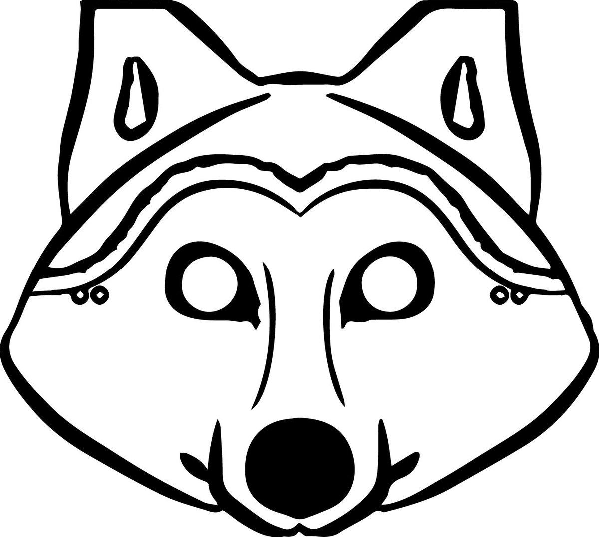 «Маска раскраска собака» — карточка пользователя О в ...