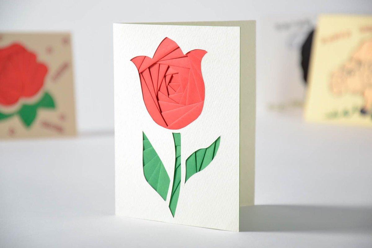 являются красивые открытки из белой бумаги первую