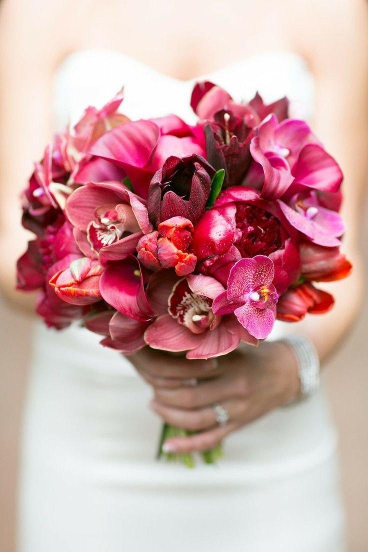Свадебный букет орхидея и флор, букет
