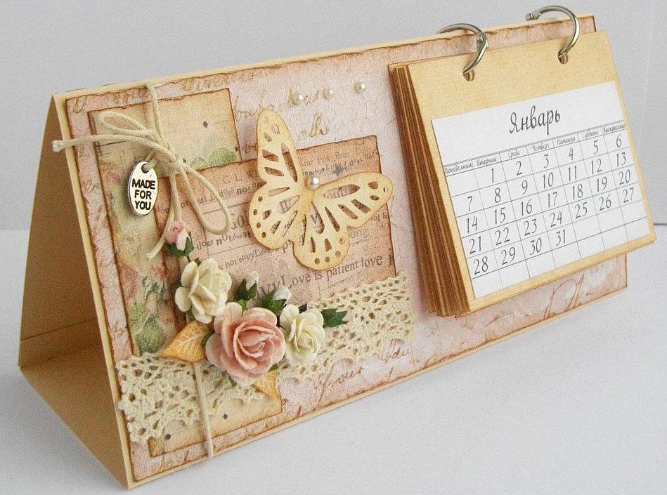 Сделать открытку и календарь, технологии приколы