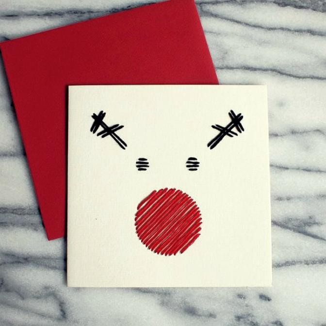 Картинки, открытки минимализм новый год