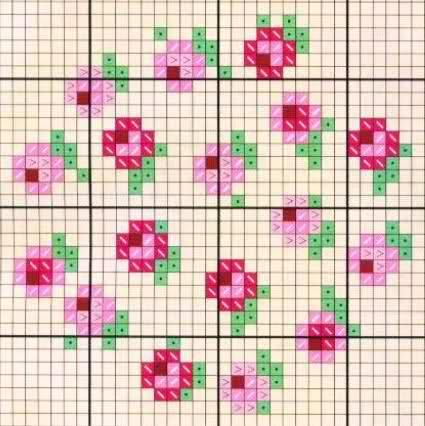 Bordados En Punto Cruz Flores Pequenas Imagui Card From User