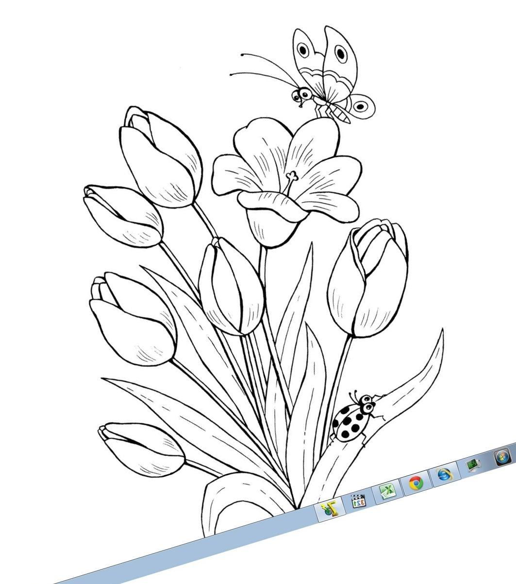 Картинки с цветами для детей 6-7 лет