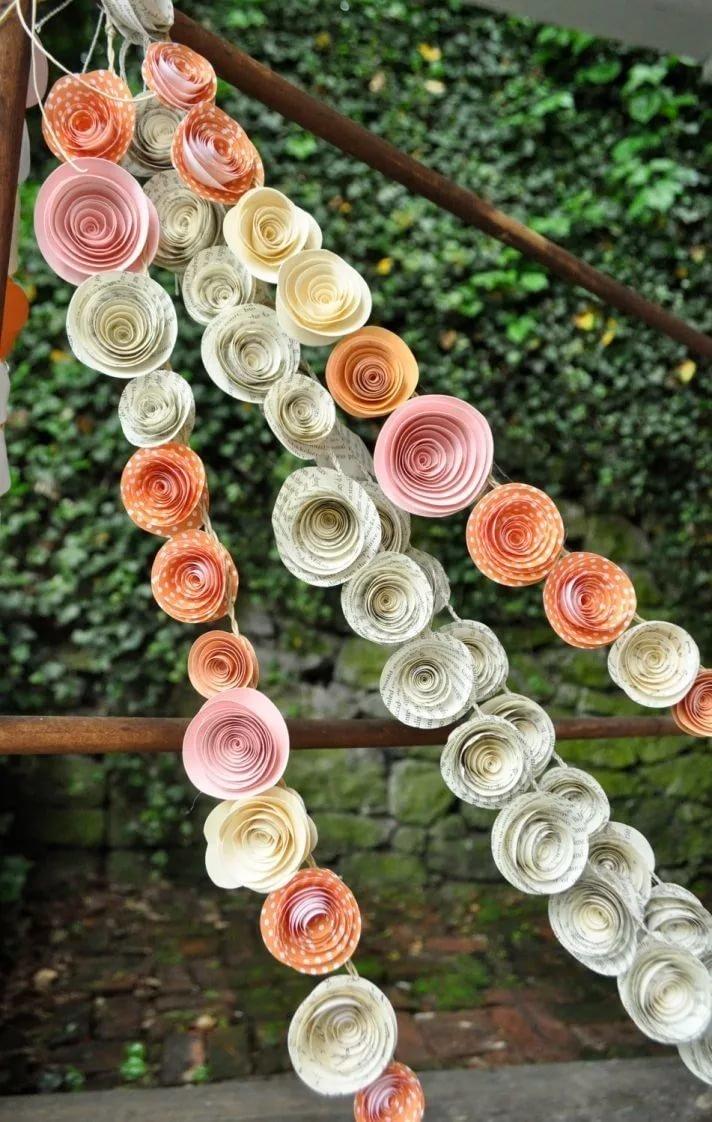 Декор своими руками: бумажные цветы
