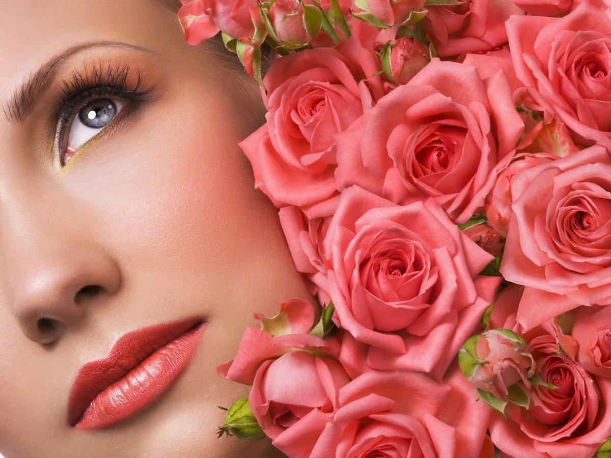 Цветы и женщина картинки с надписями