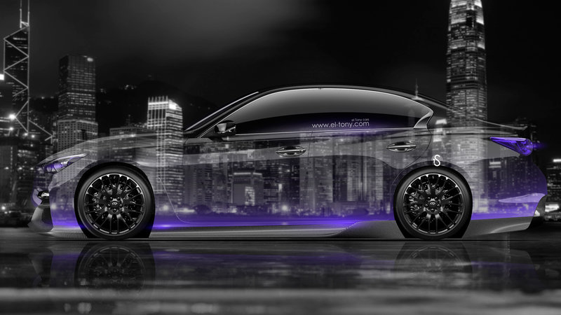 Infiniti Q50 Side Crystal City Car 2014 Violet